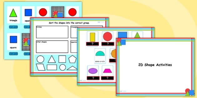 2D Shape Flipchart Activity Pack - 2D shapes, shape, 2D, maths