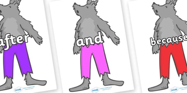 Connectives on Werewolf - Connectives, VCOP, connective resources, connectives display words, connective displays