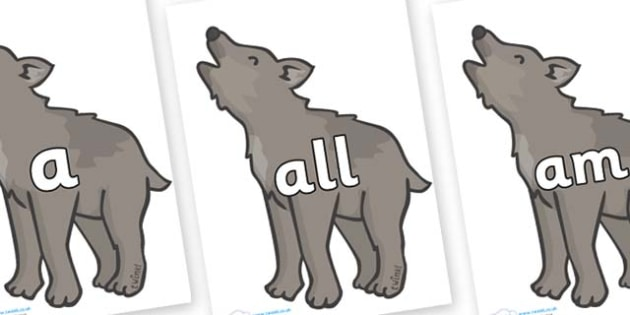 Foundation Stage 2 Keywords on Wolf Cubs - FS2, CLL, keywords, Communication language and literacy,  Display, Key words, high frequency words, foundation stage literacy, DfES Letters and Sounds, Letters and Sounds, spelling