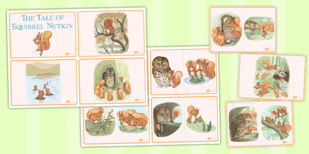 The Tale of Squirrel Nutkin Story Sequencing Cards - squirrel nutkin
