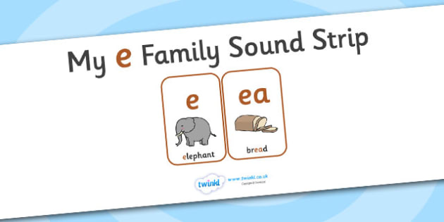 My e Family Sound Strip - family sound strip, sound strip, my family sound strip, my e sound strip, e sound strip, e family sound strip