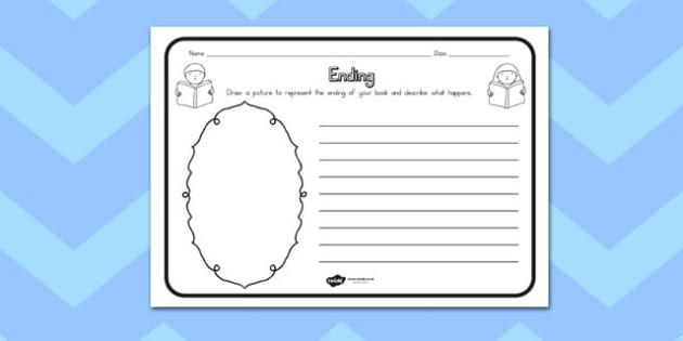 Ending Comprehension Worksheet - australia, comprehension, ending