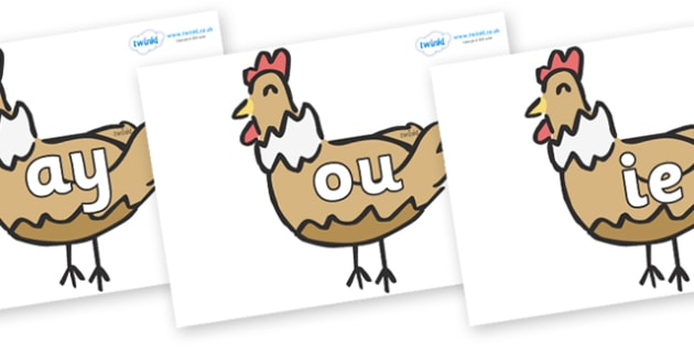 Phase 5 Phonemes on French Hens - Phonemes, phoneme, Phase 5, Phase five, Foundation, Literacy, Letters and Sounds, DfES, display