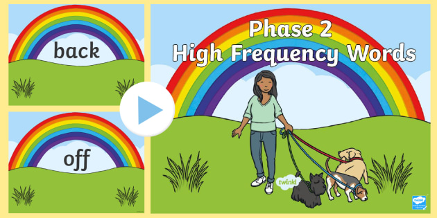 Phase 2 High Frequency Words Sound PowerPoint - phase 2, phase two, frequency words, sound powerpoint, powerpoint, discussion prompt, class discussion