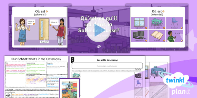 French: Our School: What's in the Classroom? Year 3 Lesson Pack 1
