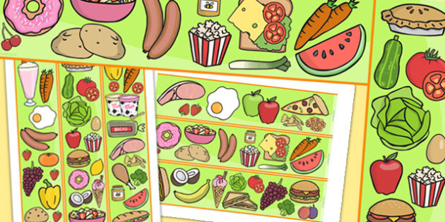 Food Themed Display Borders - food, food display, border, eat