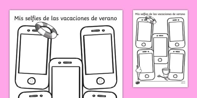 Mis selfies de las vacaciones de verano - spanish, holiday, summer, term, break, holidays, selfie, selfy, photo, portrait, picture