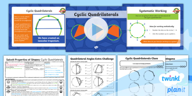 PlanIt Y6 Properties of Shapes SolveIt Lesson Pack - Quadrilaterals, cyclic patterns, dotty paper, problem-solving, reasoning, geometry, Year 6, Y6, vert