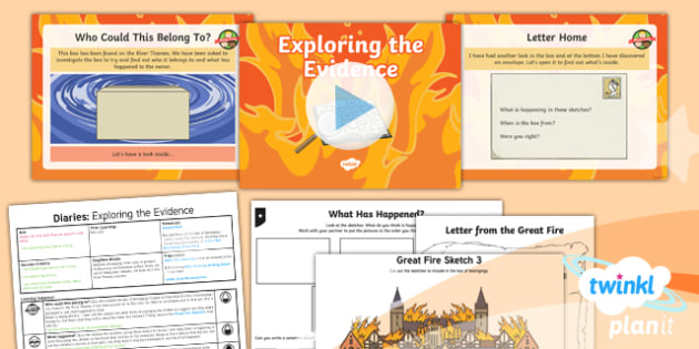 Time Travel: The Great Fire of London: Personal Writing 1 Y1 Lesson Pack - Samuel Pepys, Samuel Peeps, 1666, Pudding Lane, Charles II, diary writing