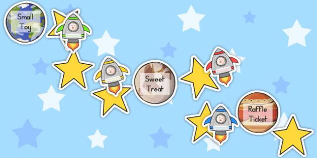 Space Class Display Reward Chart - rewards, displays, charts