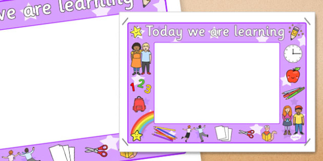 Today We Are Learning Display Sign Purple - display sign, purple
