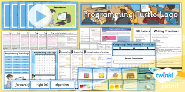 Computing: Programming Turtle Logo Year 4 Unit Pack