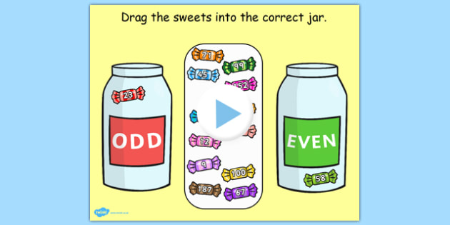 Odd and Even Maths Game For IWB - odd, even, maths, IWB, game