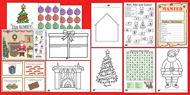 Key Stage 1 Christmas Activity Pack - ks1, christmas, activity pack, activity, pack