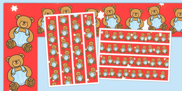 Teddy Bear Display Border - teddy bear, display border, display, border