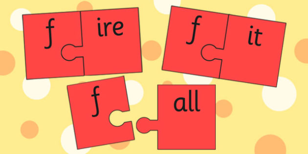 f and Vowel Production Jigsaw Cut Outs - f sound, sounds, jigsaw