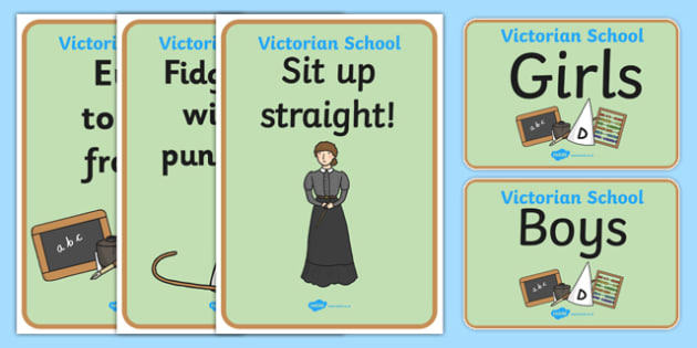 Victorian School Role Play Signs - victorian school, role play, victorian school role play, victorian school signs, victorian school display posters