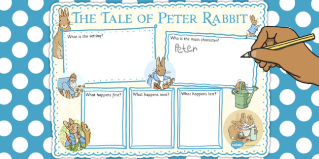 The Tale of Peter Rabbit Book Review Writing Frame - writing