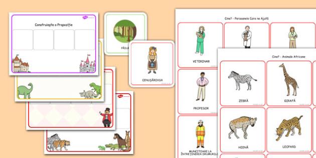 Construim propoziții folosind imagini - Pachet cu materiale - construim, propoziții, imagini, pachet, enunțuri, semne de punctuație, intonație, romanian, materiale, materiale didactice, română, romana, material, material didactic