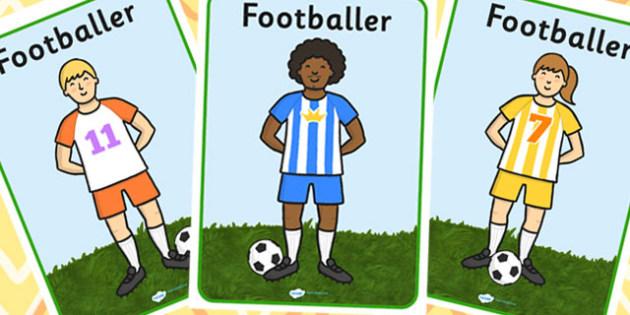 Footballers A4 Display Posters - Footballer, footballers, football display, world cup, soccer, world cup display, football, sport, Display, Posters, Freize