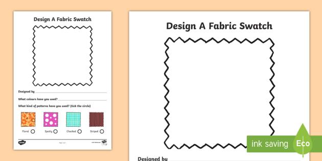 Fashion Design Studio Fabric Design Worksheet - fashion design studio, fabric design worksheet, worksheet, role play, fashion design studio worksheet