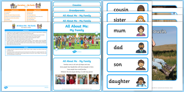 EYFS Ourselves All About Me My Family Discovery Sack - Early Years, KS1,families, UTW