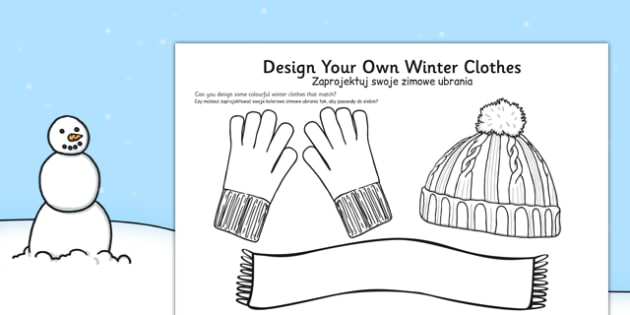 Design Your Own Winter Clothes Polish Translation - polish, winter, design, own, winter clothes, clothes