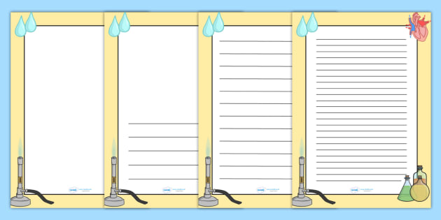 Science Page Borders - Science, page border, a4 border, template, writing aid, writing border, page template, knowledge and understanding of the world