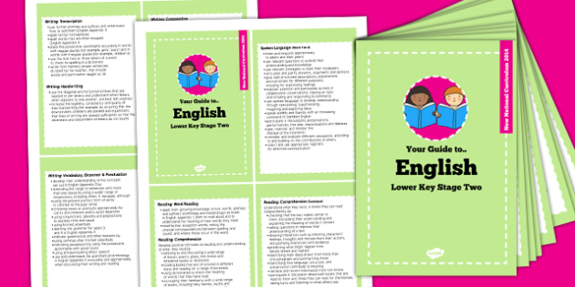 2014 Curriculum Cards Year LKS2 English - new curriculum, plan
