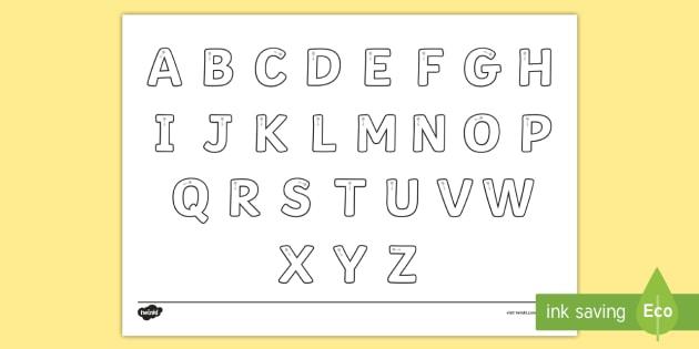 Letter Formation Alphabet Handwriting Sheet Uppercase - alphabet