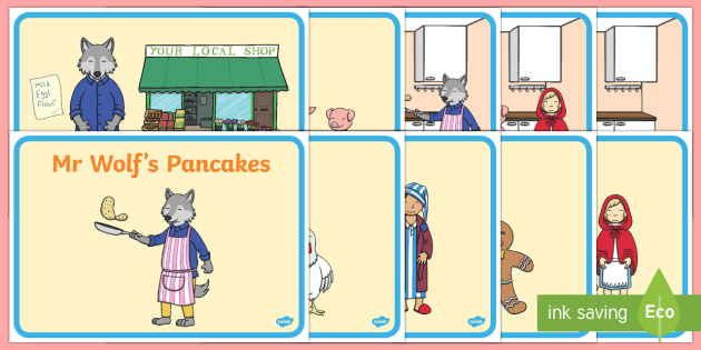 Short Story Sequencing to Support Teaching on Mr Wolf's Pancakes - mr wolfs pancakes