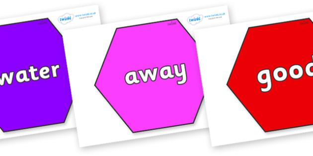 Next 200 Common Words on Hexagons - Next 200 Common Words on  - DfES Letters and Sounds, Letters and Sounds, Letters and sounds words, Common words, 200 common words
