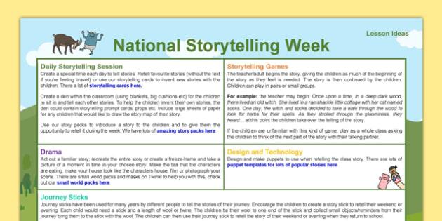 National Storytelling Week Ideas - National Storytelling Week, storytelling, ideas