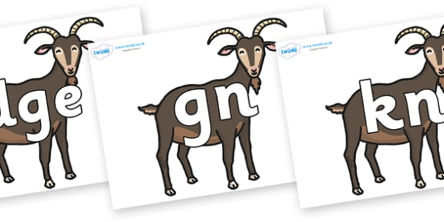 Silent Letters on Big Billy Goats - Silent Letters, silent letter, letter blend, consonant, consonants, digraph, trigraph, A-Z letters, literacy, alphabet, letters, alternative sounds
