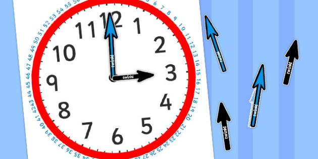 Blank Clock with Minutes and Hands - australia, clock, minutes