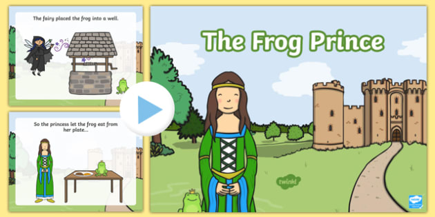 The Frog Prince Story PowerPoint - the frog prince, the frog prince story, traditional tales, the frog prince powerpoint, traditional tales powerpoints