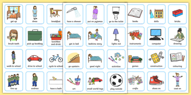 Daily Routine Visual Timetable for Girls - daily routine, visual timetable, girls, routine