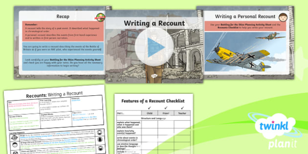 PlanIt Y5 World War II: Battle of Britain Lesson Pack Recounts (2)