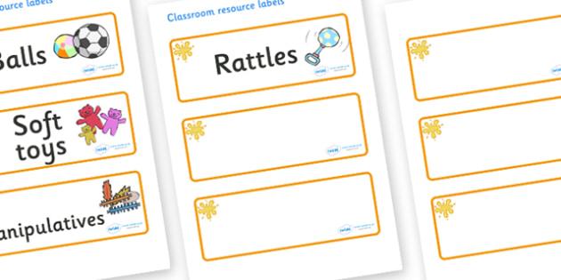 Amber Themed Editable Additional Resource Labels - Themed Label template, Resource Label, Name Labels, Editable Labels, Drawer Labels, KS1 Labels, Foundation Labels, Foundation Stage Labels, Teaching Labels, Resource Labels, Tray Labels, Printable la