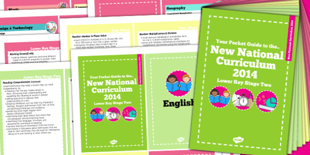 2014 Curriculum Cards LKS2 Core And Foundation Subjects - LKS2