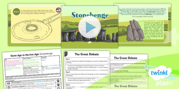 History: Stone Age to the Iron Age: Stonehenge UKS2 Lesson Pack 4