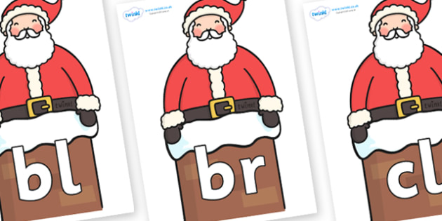 Initial Letter Blends on Santa (Chimney) - Initial Letters, initial letter, letter blend, letter blends, consonant, consonants, digraph, trigraph, literacy, alphabet, letters, foundation stage literacy