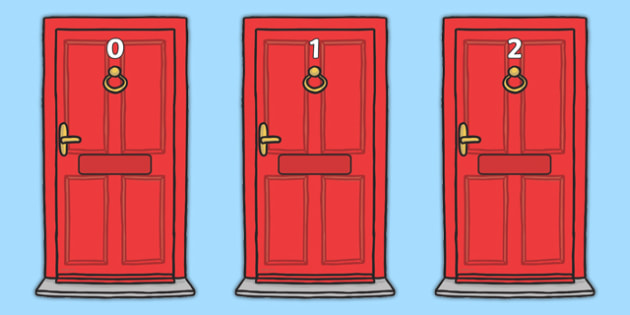 Numbers 0-20 on Doors - Door, numbers, letterbox, post, Postal Worker, letter, parcel