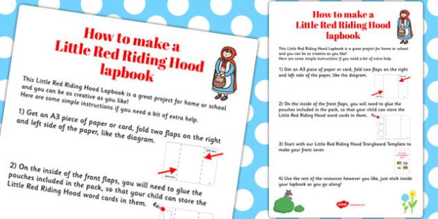 Little Red Riding Hood Lapbook Instructions Sheet - lapbooks