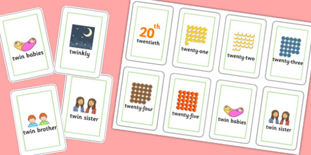 Three Syllable TW Playing Cards - sen, sound, special educational needs, tw, playing cards