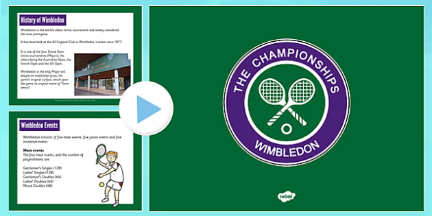 Wimbledon PowerPoint - wimbledon, powerpoint, tennis, event