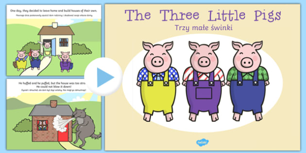 The Three Little Pigs Story PowerPoint Polish Translation - polish, powerpoint, power point, interactive, the three little pigs, three little pigs, three little pigs powerpoint, traditional tales, traditional tale powerpoint, powerpoint presentation,