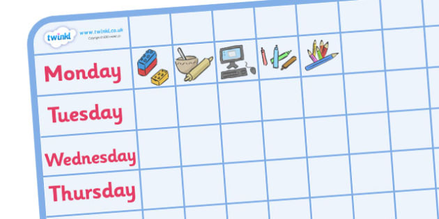 Editable Mini Nursery / Foundation Stage 1 Visual Timetable