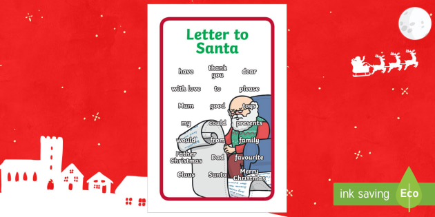 Ikea Tolsby Letter to Santa Prompt Frame