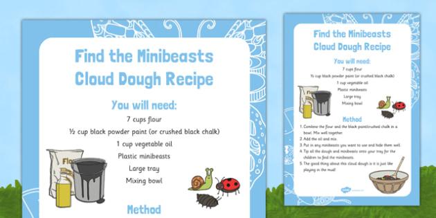 Find the Minibeasts Cloud Dough Recipe - EYFS, Minibeasts, Creepy Crawlies, Bugs